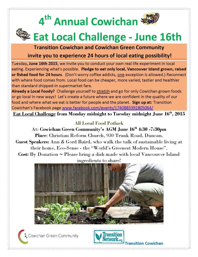 Eat Local Challenge poster 2015